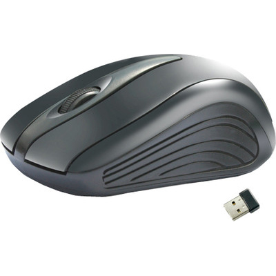 Amkette Ergo Wireless Optical Mouse (Black)