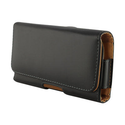 BHAVTAV Leather Holster Carry Case Cover Pouch For Lenovo P700I (With Belt Clip) (Black)