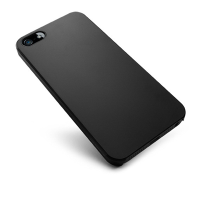 BHAVTAV Black Ultra Thin Rubberized Matte Hard Case Cover For Apple Iphone 5 (Black)
