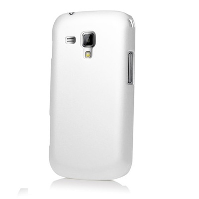 BHAVTAV Ultra Thin Rubberized Matte Hard Back Case Cover For Samsung Galaxy S Duos S7562 (White)