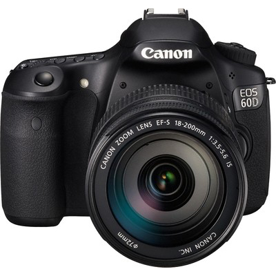 Canon EOS 60D SLR 18 Megapixels (Black, Body with EF-S 18-200 mm IS III Lens)