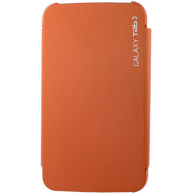 DMG Samsung Galaxy Tab 3 P3200/P211 7in Slim Fit Cover Case Stand (Orange) And Aux Cable With Mic And Stylus Combo Set