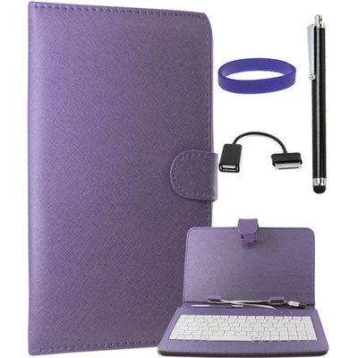 DMG Keyboard Leather Book Cover Stand With USB OTG For Samsung Galaxy Tab 2 P3100/3110 Combo Set