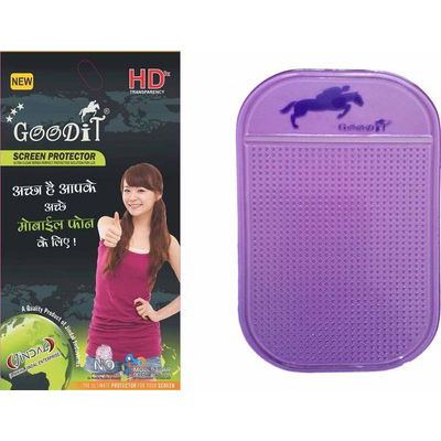 Goodit Screen Guard With Anti Slip Mat For Samsung Champ Neo Duos C3262 Combo Set