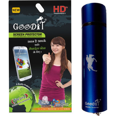 Goodit Screen Guard With Power Bank For Sony Xperia C6602/ Sony Xperia Z LTE Combo Set