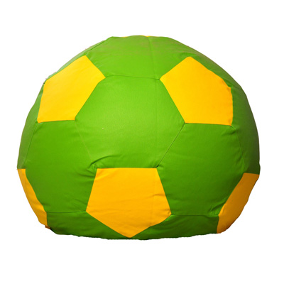 Pebbleyard Green And Yellow Football Bean Bag Cover Without Beans (Size-L)