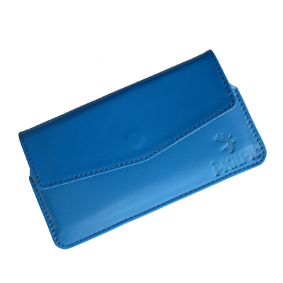 IKitPit Genuine Leather Pouch Case Cover For Nokia X Dual SIM / X+ Dual SIM (SKU BLUE)