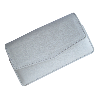 IKitPit PU Leather Pouch Case Cover For Karbonn A21 (WHITE)