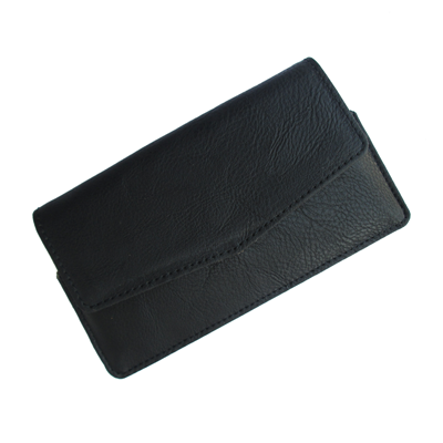 IKitPit PU Leather Pouch Case Cover For Videocon A15+ (BLACK)
