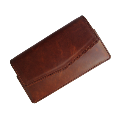 IKitPit PU Leather Pouch Case Cover For Videocon A15+ (BROWN)