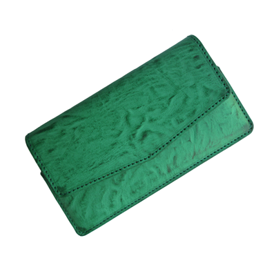 IKitPit PU Leather Pouch Case Cover For Videocon A15+ (GREEN)