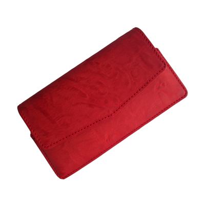 IKitPit PU Leather Pouch Case Cover For Videocon A15+ (RED)