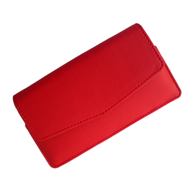 IKitPit PU Leather Pouch Case Cover For Videocon A15 (RED)