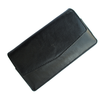 IKitPit PU Leather Pouch Case Cover For Videocon A15 (BLACK)