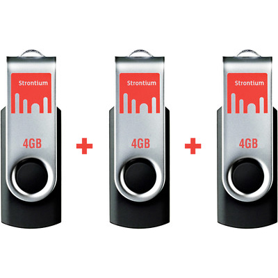 Strontium Bold USB 4GB Pen Drive ( Pack Of 3)
