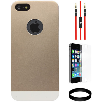 Totu Knight II Ultra Slim Aluminium Shell Case For Apple IPhone 5/5S And AUX Cable And Screen Guard And Wristband Combo Set