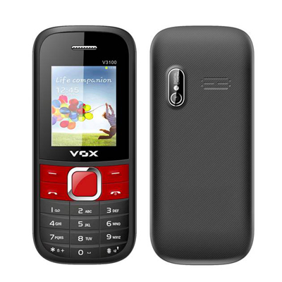 Vox 3100 Triple Sim Mobile (Black & Red)