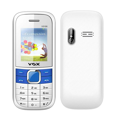 Vox 3100 Triple Sim Mobile (White & Blue)