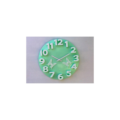 Panache 3D With Butterfly Wall Clock - 1739917