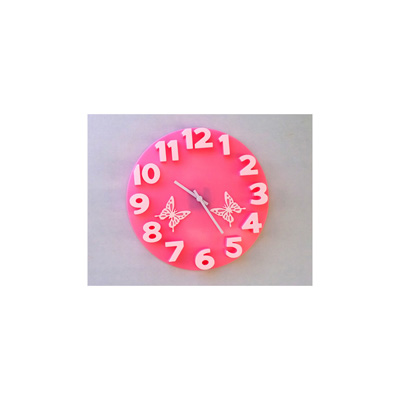 Panache 3D With Butterfly Wall Clock - 1739919
