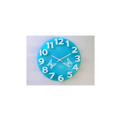 Panache 3D With Butterfly Wall Clock