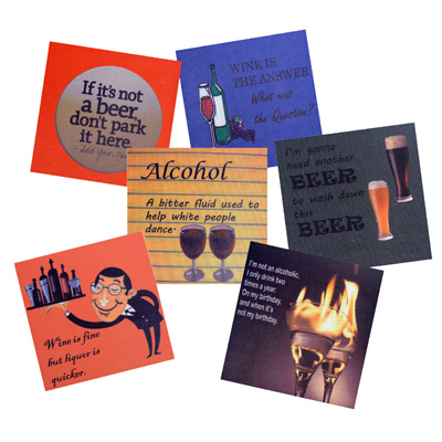 MeSleep Coaster Assorted Cocktail Coasters With Witty Quotes Perfect For Your Bar