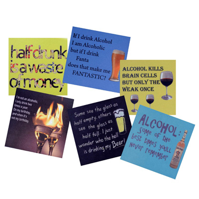 MeSleep Coaster Assorted Cocktail Coasters With Witty Quotes Perfect For Your Bar - 267002