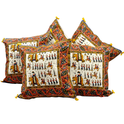 Little India Sanganeri Handblock Printed Cushion Cover Set
