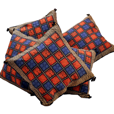 Little India Handblock Bagru Print Cotton Cushion Cover Set