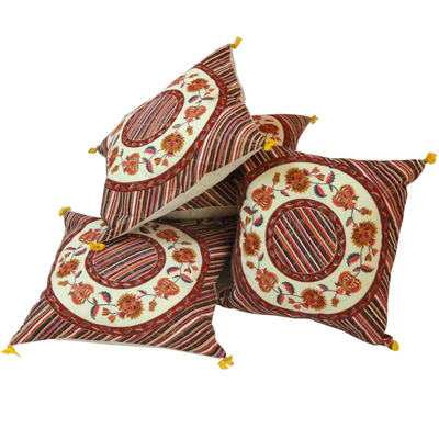 Little India Jaipuri Floral Print Cotton Cushion Cover Set