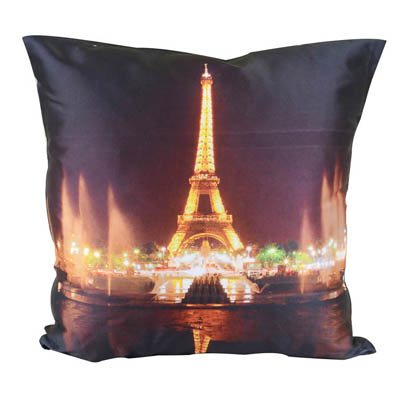 MeSleep Effel Tower With Light Cushion Covers Digitally Printed 7 Wonder Of The World Series