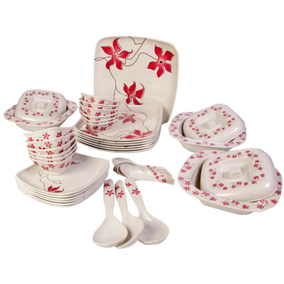 Diamond Melamine Dinner Set