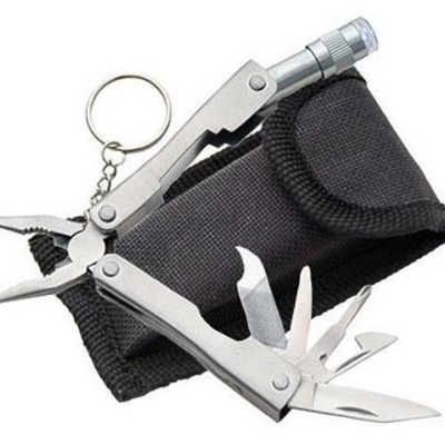 Tanu Electronics 9 In 1 Multi Tool Stainless Steel Pocket Plier (2 Pieces)