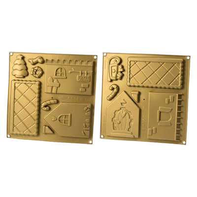 Silikomart Silicone Novelty Home Sweet Home Cake Mould (Set Of 2 Pieces)