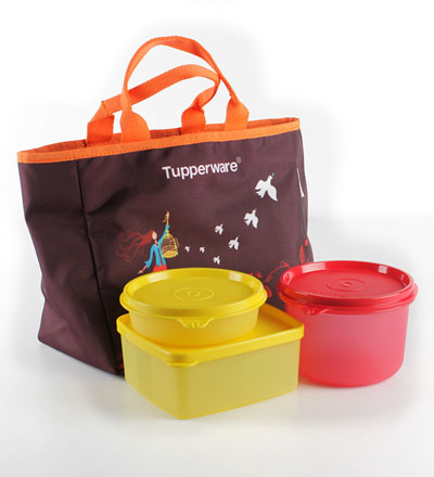 Tupperware Freedom Lunch Box Set With Bag