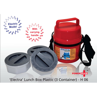 Electric Lunch Box 3 Plastic Container