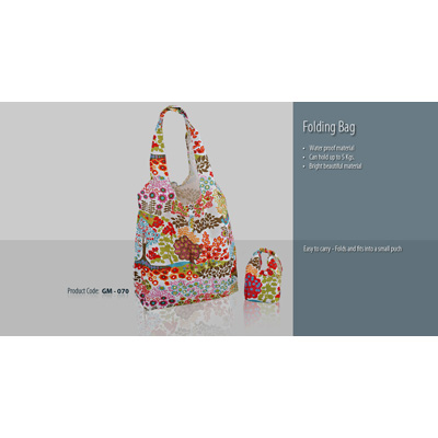 GSM Folding Bag With Flower Print