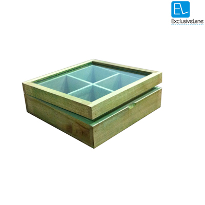ExclusiveLane Utility Cum Knick Knack Box Green
