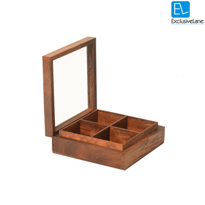 ExclusiveLane Utility Cum Knick Knack Box Brown