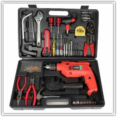 Branded 102 Pcs. Multipurpose Tool Kit With Powerful Drill Machine