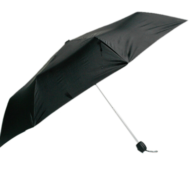 Shoppingbaaz 3 Fold Umbrella In Black For All Weather Manual Open