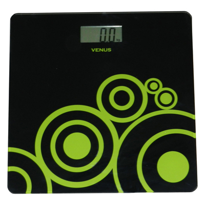 Venus Black Electronic Digital Personal Bathroom Health Body Weight Weighing Scale