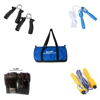 Protoner Fitness Kit With Gym Bag