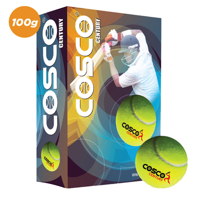 Cosco Century Cricket Tennis Ball (Pack Of 6)
