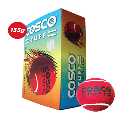 Cosco Tuff Cricket Tennis Ball (Pack Of 12)