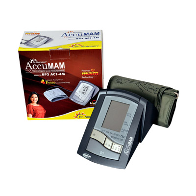 Dr Morepen Accumam Digital Blood Pressure Monitor With Pulse Reading (Bp3Ac1-4M)