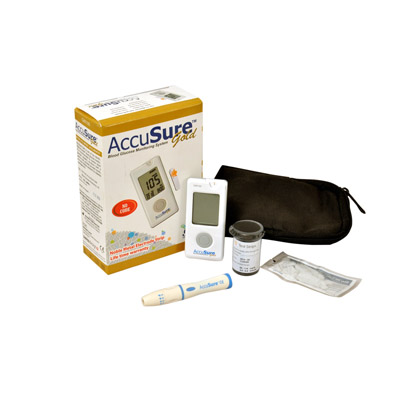 Dr Gene Accusure Gold Glucose Monitor System Glucose Meter (Free 10 Test Strips)