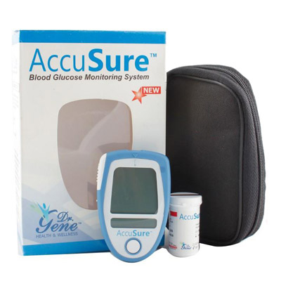 Dr Gene Accusure Blood Glucose Monitor System Glucose Meter (10 Test Strips Free)