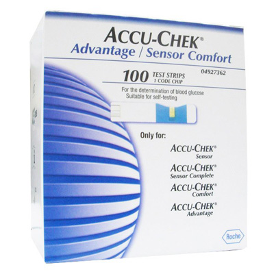 100 Test Strips For Accu-Chek Advantage/ Sensor Comfort Blood Glucose Monitor System Glucose Meter